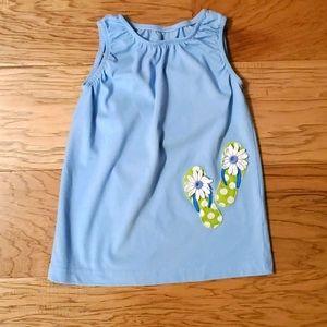 3/$15 Summer Dress Applique Flip Flops Beach